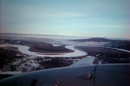 Kuskokwin River in front of Denali