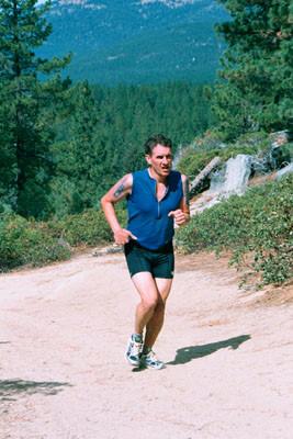 XTERRA running at Lake Tahoe