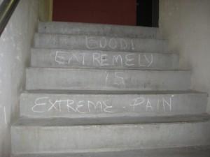 Stairs at Ren Cen