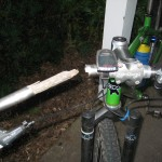 I jammed a stick inside the handlebar just to get me home