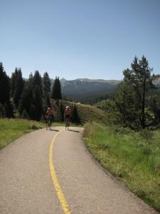 Jeff and Peter climb towards Vail Pass