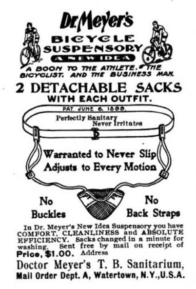 Jocks strap for cyclists from 1901